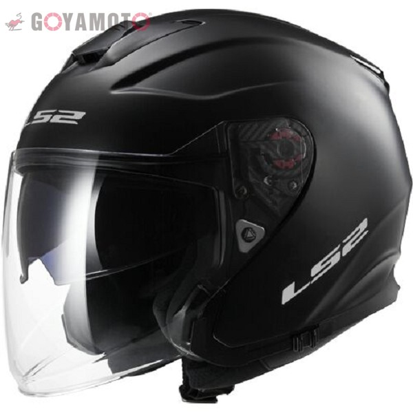 CASCO JET TRICOMPOSITE  - LS2 - OF521 INFINITY SOLID MATT BLACK