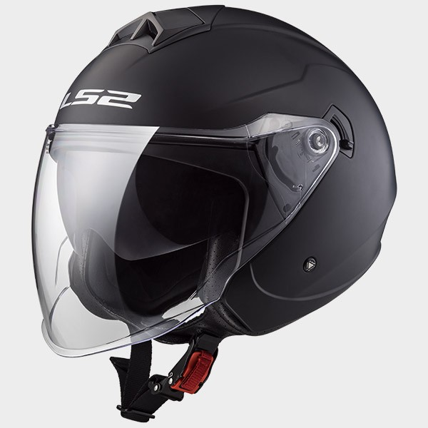 CASCO JET EN THERMOPLASTICO - LS2 - OF573 TWISTER MATT BLACK