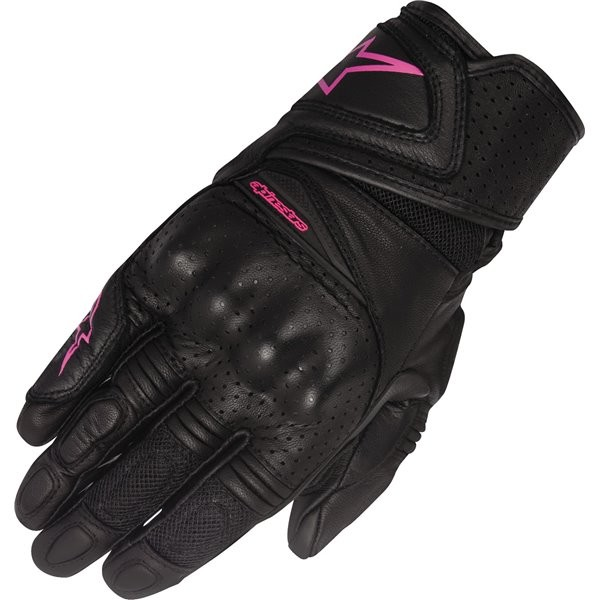 GUANTE STELLA BAIKA LEATHER ALPINESTAR N/ROSA