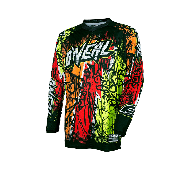 Camiseta ONEAL element vandal black/neon ADULTO