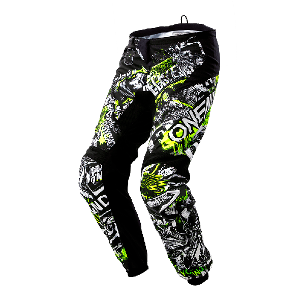 PANTALON ONEAL ELEMENT ATTACK BLACK/HI-VIZ ADULTO