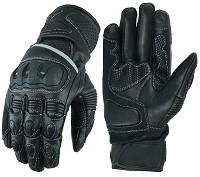 MOTORBIKE RACING LEATHER GLOVES WITH TPU PROTECTIONS