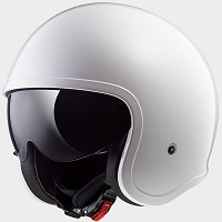 CASCO JET EN THERMOPLASTICO - LS2 - OF599 SPITFIRE SOLID WHITE