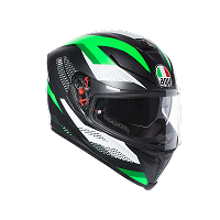 K-5 S AGV E2205 MULTI PLK - MARBLE MATT BLACK/WHITE/GREEN - AGV