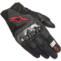 GUANTES ALPINESTARS SMX-1 AIR V2 BLACK / RED FLUO